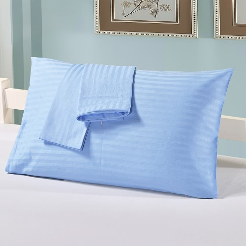 2pcs/set Cotton Pillow Case Well-made Soft Pillow Cover Case Pillowcases Pillow Slipcovers with Hidden Zipper Closure--Standard Size 20