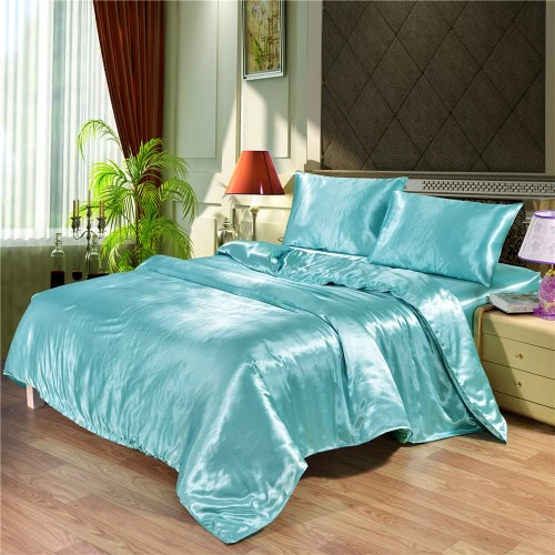 Silk-like Bedding Set Well-made Soft Silky Smooth Duvet Cover & Pillowcase Sets Nice Home Textiles
