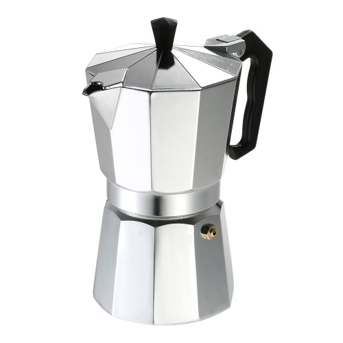 12-Cup Aluminum Espresso Percolator Coffee Stovetop Maker Mocha Pot for Use on Gas or Electric Stove