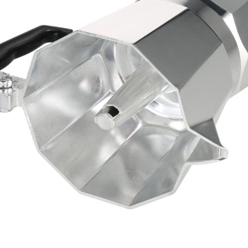 3-кубический алюминиевый эспрессо-перколятор для кофеварки для кофейных напитков Mocha Pot для использования на газовой или электрической плите
