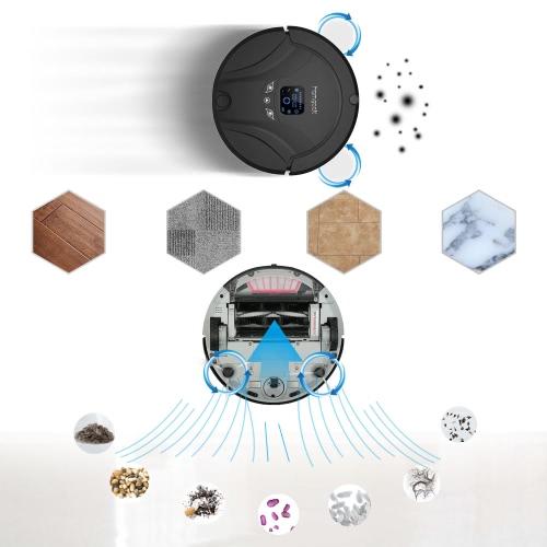 Image of Automatische Staubsauger Robotic Smart Kehrmaschine Intelligente Bodenreiniger Reinigung Wischroboter mit Fernbedienung