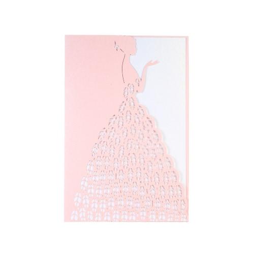 20pcs Invitation Holders + 20pcs Inner Sheets Wedding Invitation Card Set Pearl Paper Laser Cut Nuptiale Pattern Invitation Cards