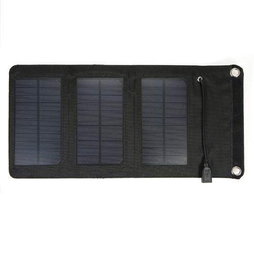 Chargeur USB portatif pliable de chargeur de panneau solaire de silicium monocristallin 5V pour l'alimentation d'énergie de téléphone portable
