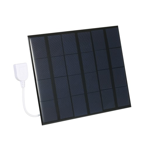 3.5W 6V Polycrystalline Silicon Solar Panel Power Bank Solar Cell USB Charger for Smart Phone Charging