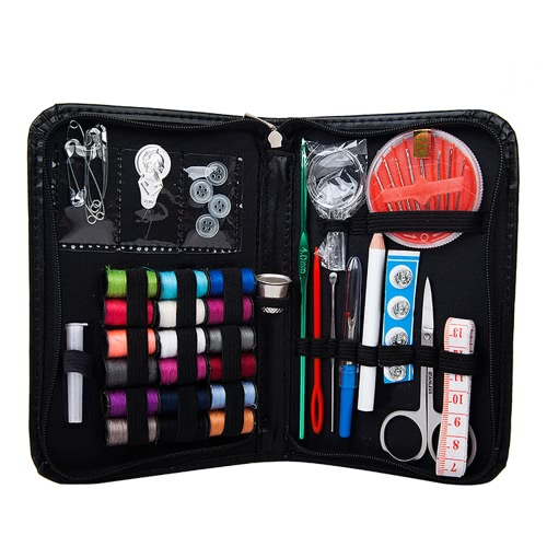 Home Use Travel 40Pcs Sewing Kit Accessories Cross Stitch Needle Multifunction Portable Storage Box Crochet Tools Hooks Knitting Craft Case Bag Organizer
