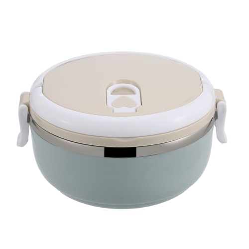 700ml 1-Layer Lunch Box Stainless Steel Lunch Containers with Seal Lid and Stainless Steel Interior Insulation Food Box with Handle Travel & To-Go Food Containers