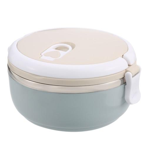 700ml 1-Layer-Lunch-Box Edelstahl-Lunch-Container mit Dichtung Deckel und Edelstahl Innen-Isolierung Lebensmittel-Box mit Griff Reise & To-Go Lebensmittel-Container