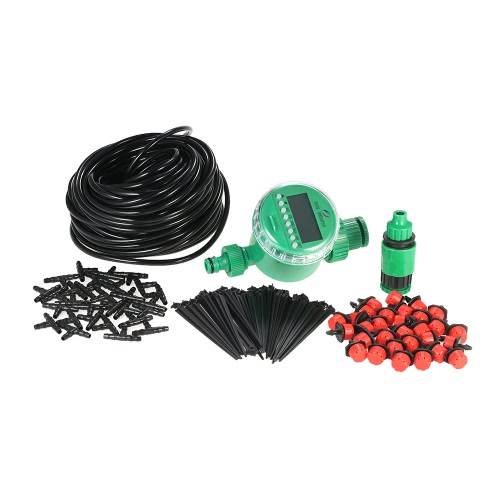 25m Micro Drip Irrigation System with Auto Timer Self Plant Watering Garden Hose