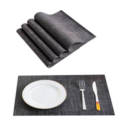 12 * 18 cali PVC odporny na ciepło tkana plama odporna na plamy antypoślizgowa zmywalny stół do jadalni matowy placematy - zestaw 4 czerwonych białych