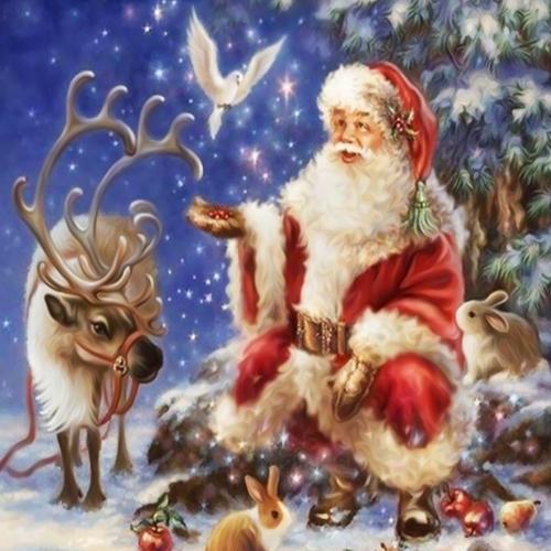 Ручная работа DIY Алмазная картина 5D Шаблон Деда Мороза, вышитый крестом для гостиной Детская спальня