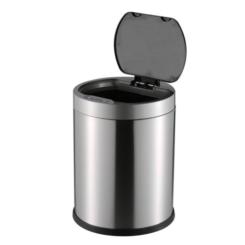 8L Smart Sensor Touchless Trash Can Stainless Steel Ash-bin Garbage Can Dust Bin Trash Bin