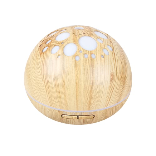 300ml Ultrasonic Mist Air Humidifier Aromatherapy Aroma Essential Oil Diffuser with Timing Function Colorful LED Light for Home Office AC100-240V