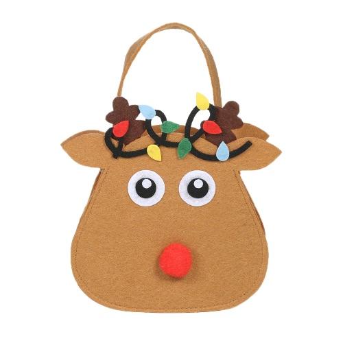 5pcs/set Christmas Candy Bags Gift Wrap Pocekts Bags X'mas Decorations Ornaments--Reindeer