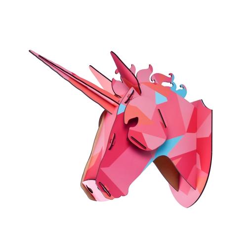 3D DIY Holzhaus Tierkopf Holz Wohnkultur MDF Handwerk Kunst Wandbehang Dekoration Anhänger Besten Geschenke Stil 1