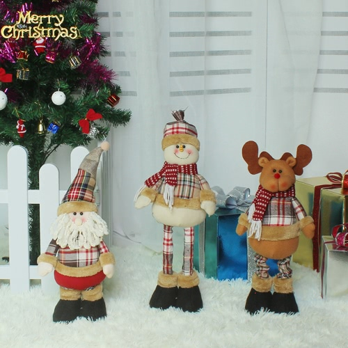 Christmas Extendable Standing Doll --Santa