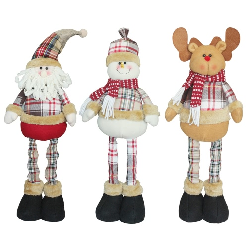 Christmas Extendable Standing Doll Toy X'mas Party Decorations Ornaments