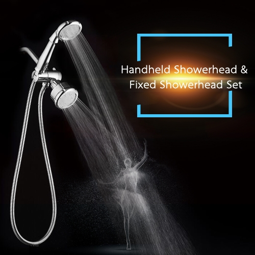 Bath Shower Spray Set with Handheld Showerhead & Fixed Showerhead High Quality Over-head Shower and Handheld Shower Practical Bathroom Shower Fixtures