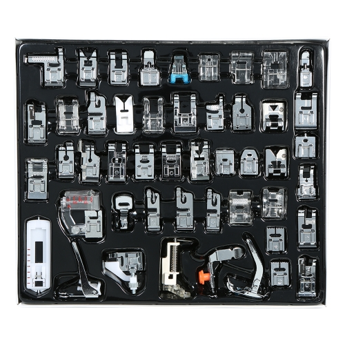 48pcs Professional Domestic Sewing Machine Presser Foot Set Hem Foot Spare Parts Accessories for Brother Singer Feiyue Janome