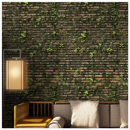 125 * 16'' PVC Waterproof Self-adhesive 3D Nature Style Wallpaper Roll Wall Floor Contact Paper Stickers Covering Decals Home Decor--Brick Wall