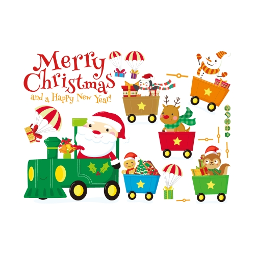 45 * 60 см Веселого Рождества Сделай сам съемные настенные наклейки на стенах Санта-Клаус Снеговик настенные художественные наклейки Домашний декор