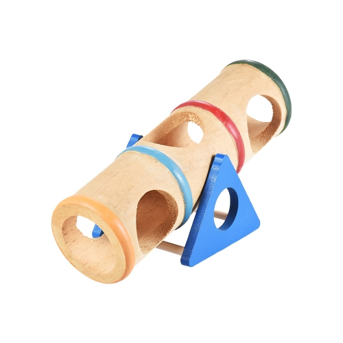 Wood Seesaw Tunnel Tube Pet Toy Mouse Dwarf Hamster Myszy Szczur Chinchillas Small Animal Playground