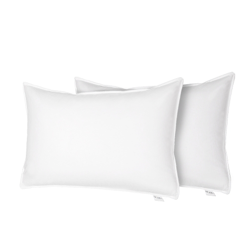Htovila Set of 2 White Bedding Pillows Goose Feather and Down Filling Bed Pillows for Home Hotel--Queen Size