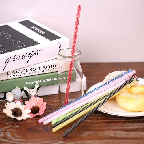 50pcs/set Rainbow Color Striped Plastic Drinking Straws Reusable Straws with Cleaning Brushes for Birthday Wedding Pool Party Deco