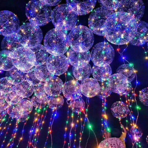 LED Air Balloon Festival Atmosfera Romantic String Lights Okrągły kształt Bubble Kids Toy Party Decration Girlfriend i Boyfriend Gifts