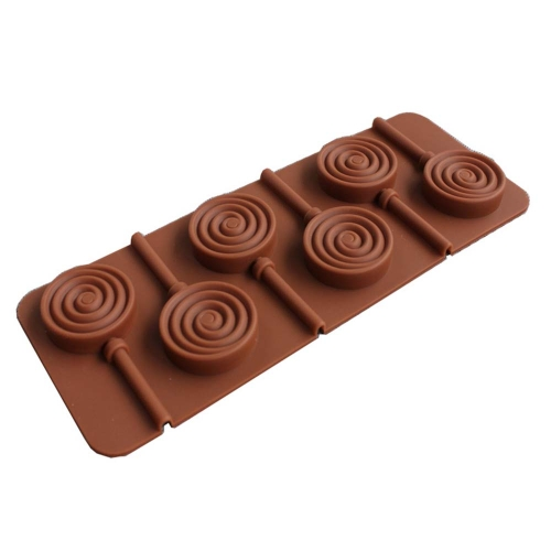 Molde de silicona Lollipop DIY para hornear Cookware Mancha resistente a los olores Bandeja de silicona para hornear Magdalena Pan Molde de chocolate
