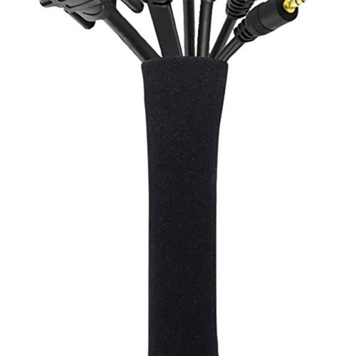 Kablowa konfekcja korygująca Tuleja Organizer na TV Komputer Lodówka Neoprenowa osłona przewodu Kabura Hider Protector Zipper Design 50cm