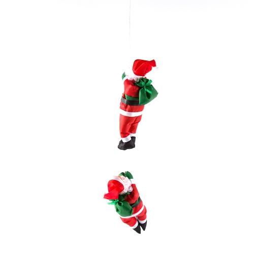 Christmas Santa Claus Doll 25 CM Dwa Santa Climb Rope Ozdoby choinkowe Okno ściany Wiszące dekoracje dla domu