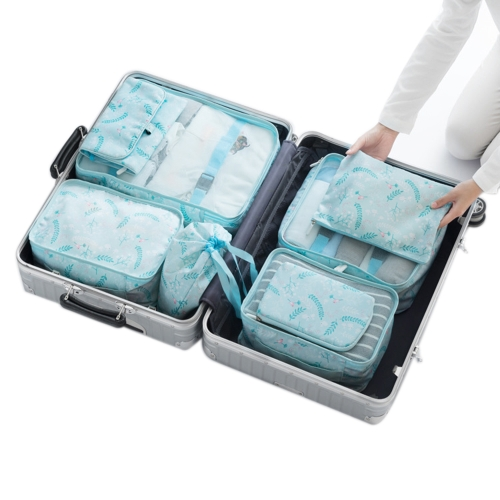 Storage Bag Set for Travel Business Trip 8PCS Luggage Organizer Wardrobe Suitcase Pouch Packing Package Sorting for Cloth Shoes Toiletry Underwear Digital Accessory