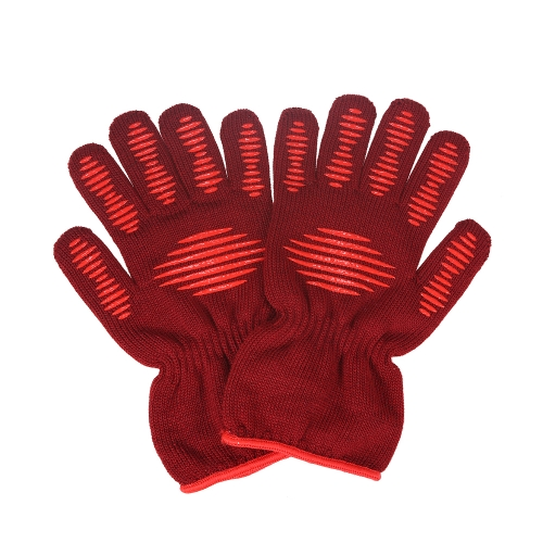 Fireproof BBQ Retardant Oven Gloves Multi-Purpose Extreme Heat Resistant 350℃ Grill Kitchen Cooking Barbecue Glove