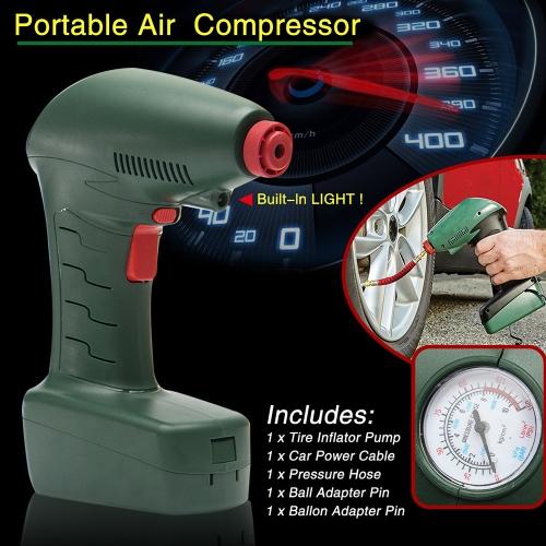 Compresseur d'air automatique électrique portatif tenu dans la main de pompe de gonflage de pneu de voiture