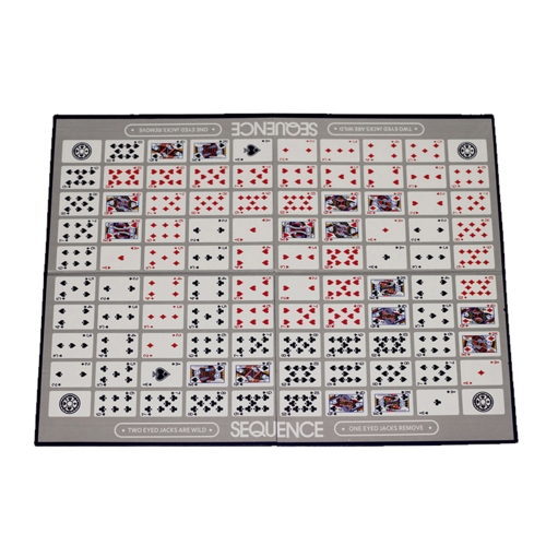 Image of Party Games Sequence Playing Cards Game An Exciting Game of Strategy Friends Playing Together