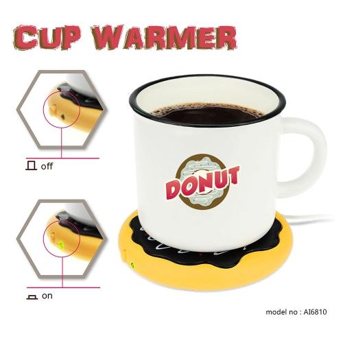 Personality Silicone Coaster Donut Desktop Tea Coffee Cup Mug Mat Heater USB Heat Preservation Mat Warm Keep Drink Warm