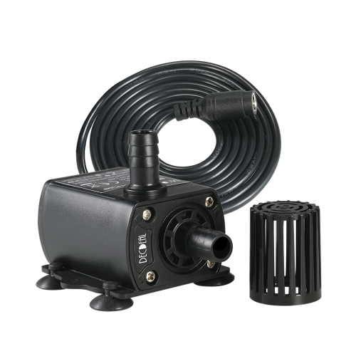 Decdeal Ultra-quiet Mini DC12V 10W 400L/H Lift 400cm Brushless Water Pump 5.5*2.1mm Female Submersible Fountain with Flow Adjustment Function