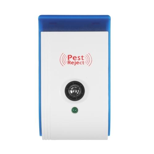 Ультразвуковой отпугиватель вредителей с ночным светом Нетоксичный репеллент для мышей Комары Муравьи Пауки Роучей Отталкивание AC90V-240V