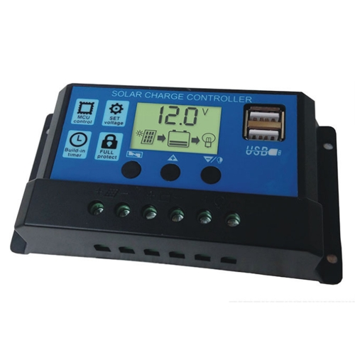20A Solar Panel Controller HD LCD Battery Charge Regulator Intelligent Controller for Home Use Street Lamp