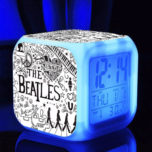 7 Farben Multifunktions Temperatur Bunte LED Digital Nette Wecker Cube Glowing in der Dunkelheit Kinder Rock Band Spielzeug