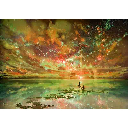 5D DIY Diamond Painting Beautiful Sunglow Sunset Rhinestone Embroidery Home Decor Gift