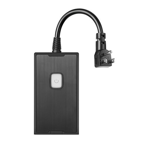 Enchufe de Wi-Fi inteligente con 2 salidas de CA compatibles para Amazon Asistente de Google y IFTTT de Google No se requiere concentrador AC100-125V Enchufe de EE. UU.