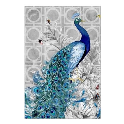 5D Алмазная вышивка DIY Алмазная живопись Павлиньим изображением, наклеенным Rhinestone Home Decor Gift