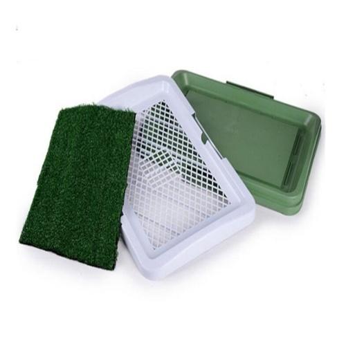 Bandeja para perros inodoro con tres capas del césped Puppy Bedpan urinario Equipo de herramientas para el entrenamiento de mascotas