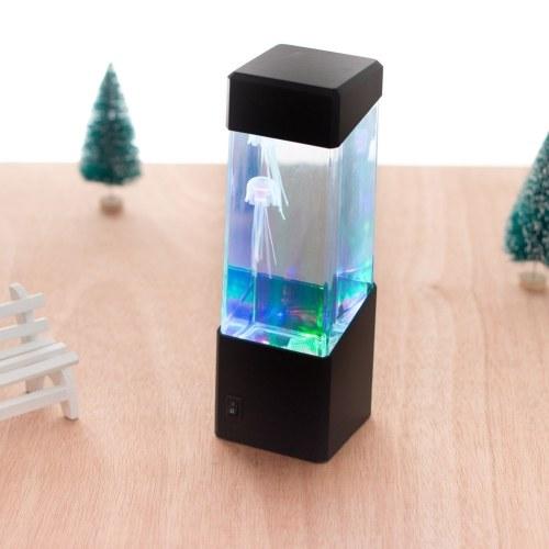 Мини-Настольный Декоративный Акриловый Экологический Рыбный Танк Свет Маленький Волшебный Светодиодный Красочный Медуза Аквариумная лампа
