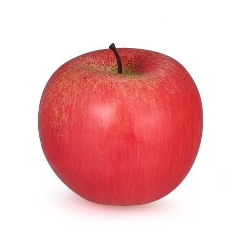 Реалистичные поддельные красные Apple Искусственные живые дома с фруктовыми украшениями для кухни