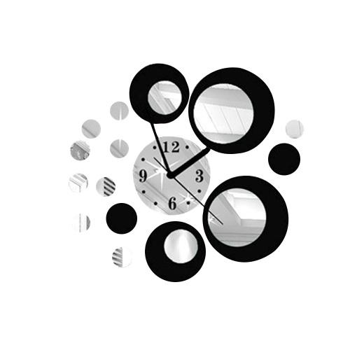 Удобный 3D зеркало стены стикер DIY акриловые дома съемные украшения часы наклейки