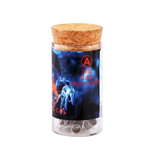 6PCS Demon Killer 316L High Grade Grey Flame Coil A / B / C / D / E / F Электронная сигарета DIY Tool