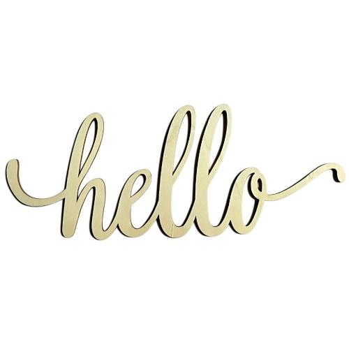Главная Декор Стена Деревянный знак Деревянные буквы Алфавит Word Decoration для свадьбы Party Birthday Style 1 Hello Letter