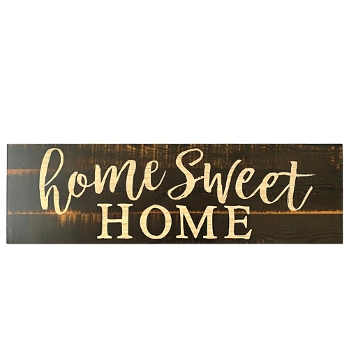 Главная Sweet Home Script Design Большой деревенский знак дерева Тревожный твердый налет Стиль 1